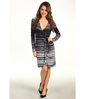 BCBGMAXAZRIA - Adele Striated Wrap Dress