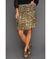 MICHAEL Michael Kors - Savannah Leopard Raw Edge Skirt