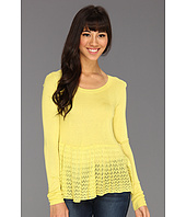 Kensie - Sheer Peplum Sweater