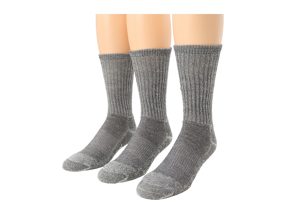 Smartwool - Hike Light Crew 3-Pack (Gray) Mens Quarter Length Socks Shoes