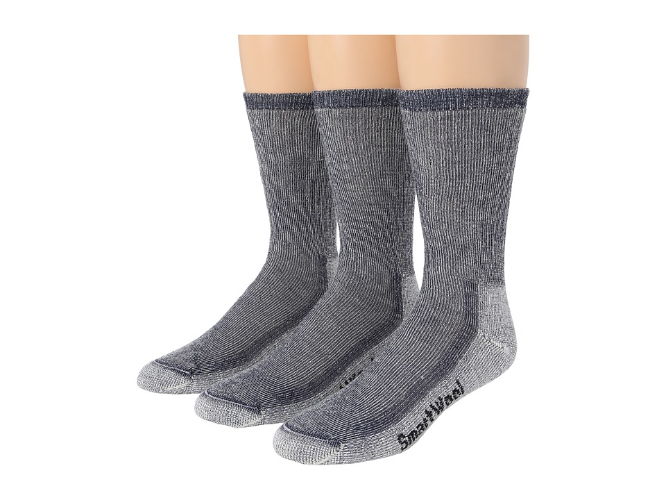 Smartwool Hike Medium Crew 3 Pack Navy Crew Cut Socks Shoes
