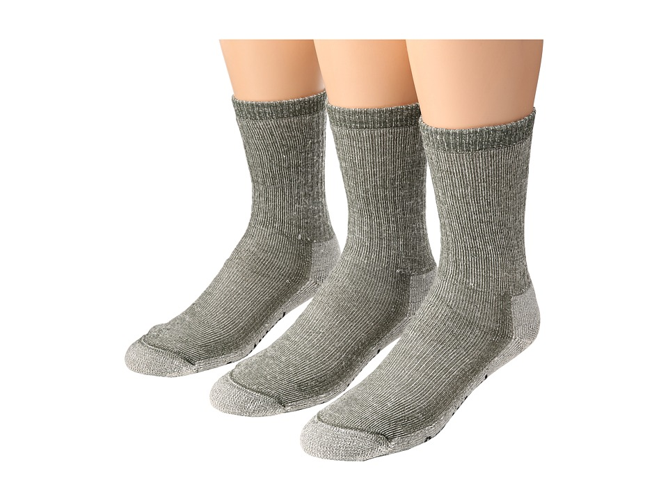 Smartwool Hike Medium Crew 3 Pack Sage Crew Cut Socks Shoes