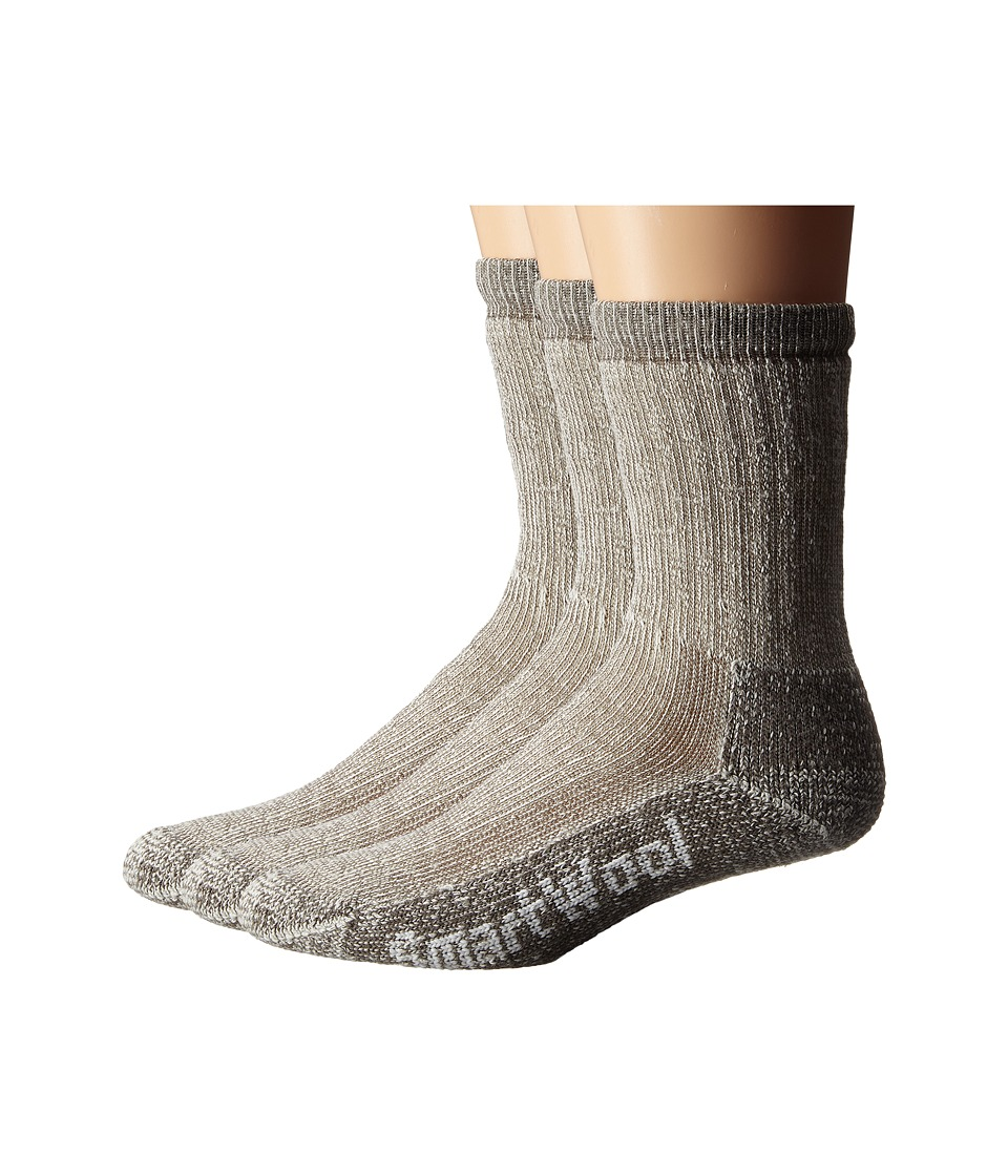 Smartwool - Trekking Heavy Crew 3-Pack (Taupe) Crew Cut Socks Shoes