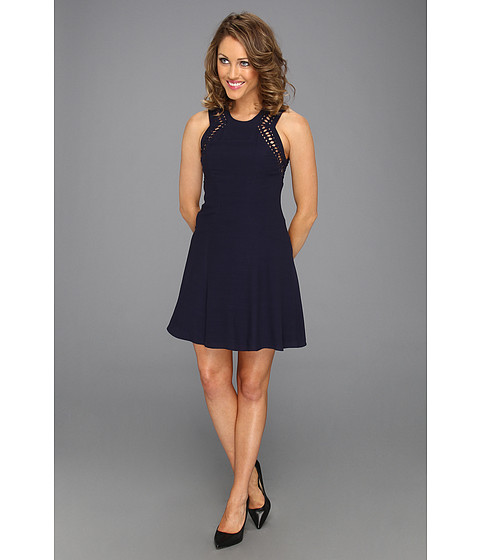 Cheap Rebecca Taylor Diamond Shift Dress Navy