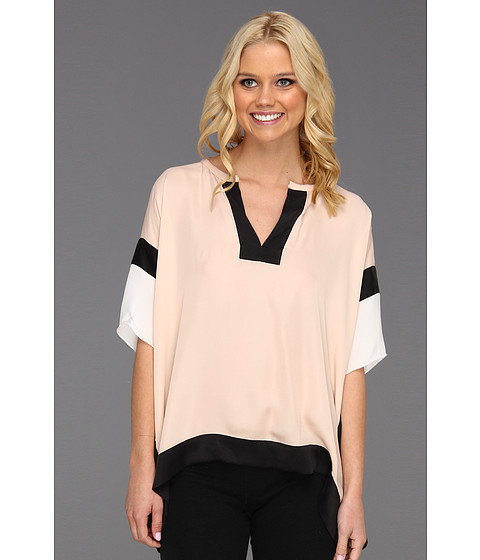 Cheap Rebecca Taylor Blocked Top Nude Combo