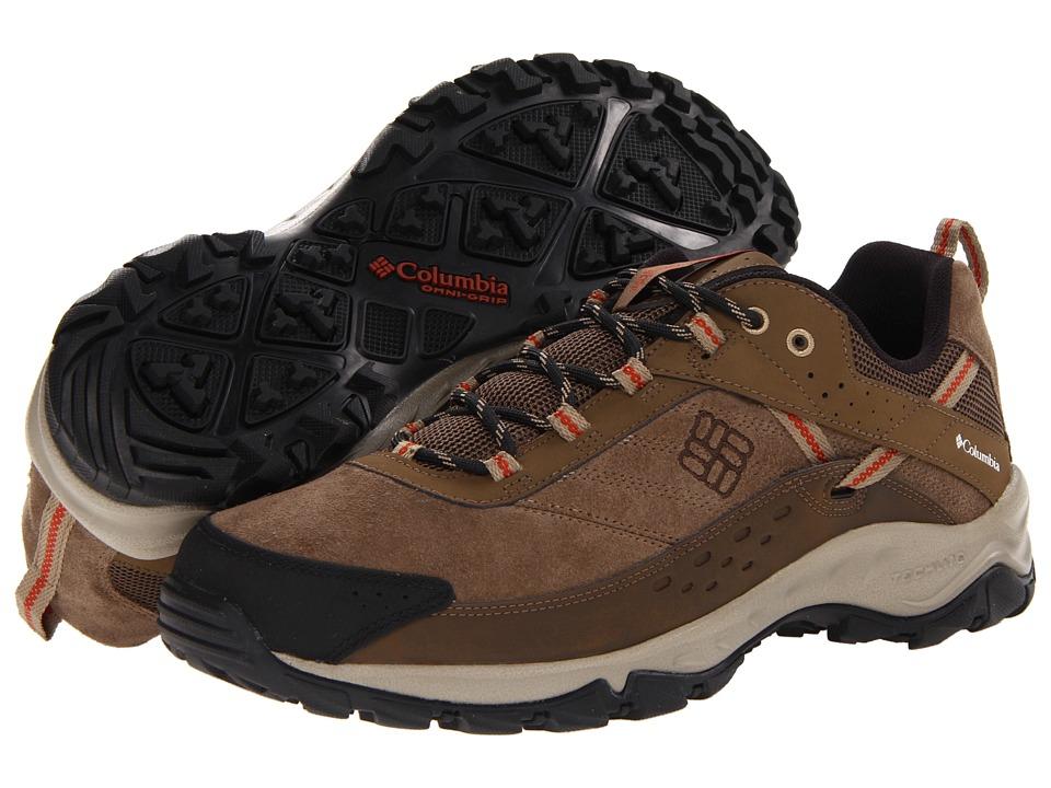 Columbia Dome Master Enduro Leather (Saddle/Sanguine) Men's Shoes