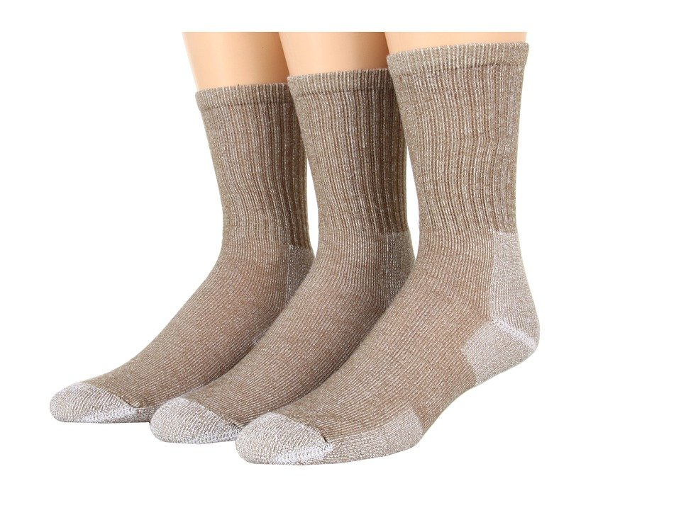 Thorlos - Ultra Light Hiking Crew 3-Pair Pack (Cornstalk Brown) Crew Cut Socks Shoes