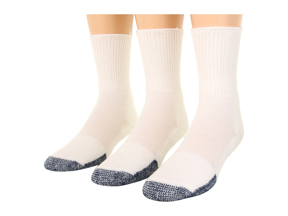 Thorlos Basketball Crew 3 Pair Pack White Crew Cut Socks Shoes