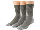 Image of Thorlos - Ultra Light Hiking Crew 3-Pair Pack (Willow Green) Crew Cut Socks Shoes