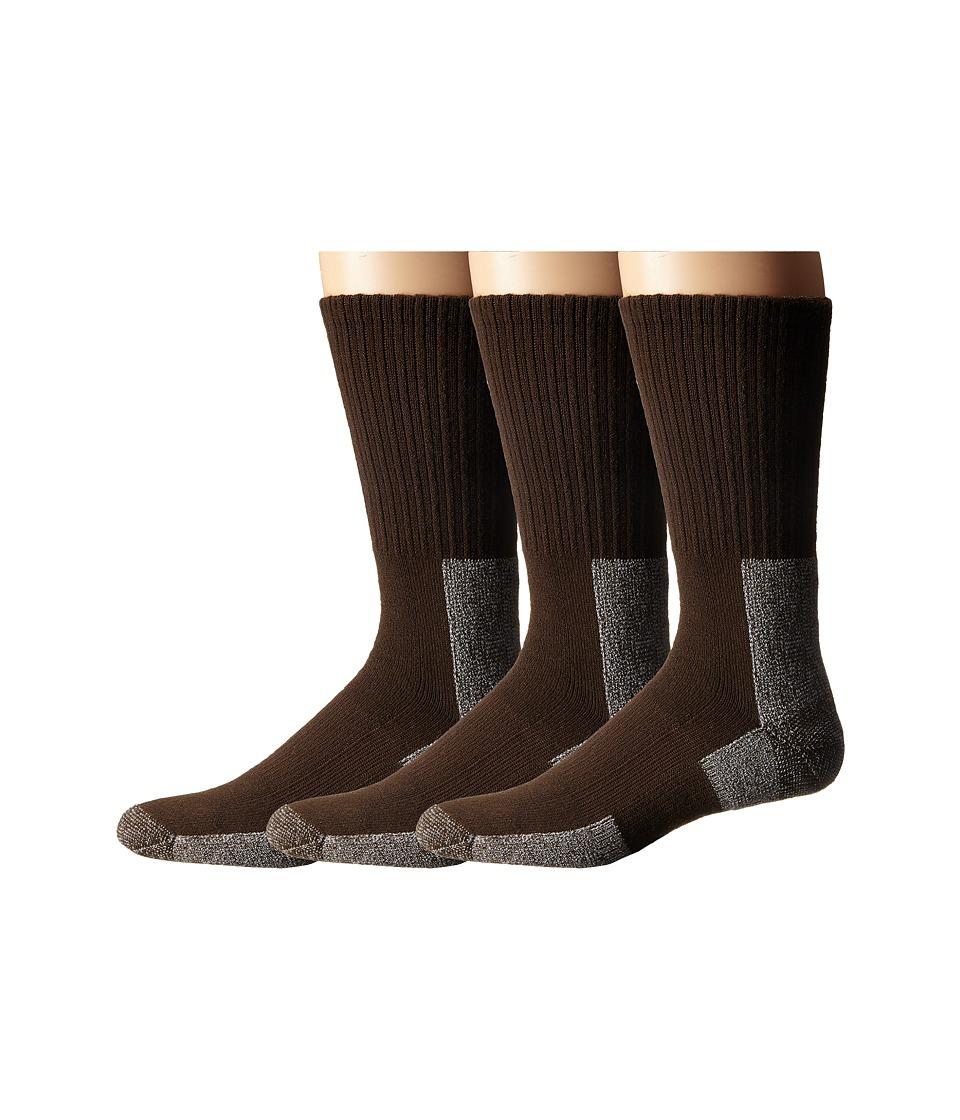 Thorlos - Trail Hiking Crew 3 Pair Pack (Chestnut) Mens Crew Cut Socks Shoes