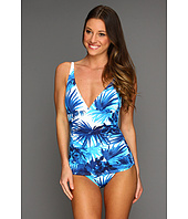 Tommy Bahama - Plumeria V-Neck Cup Shirred Front One Piece