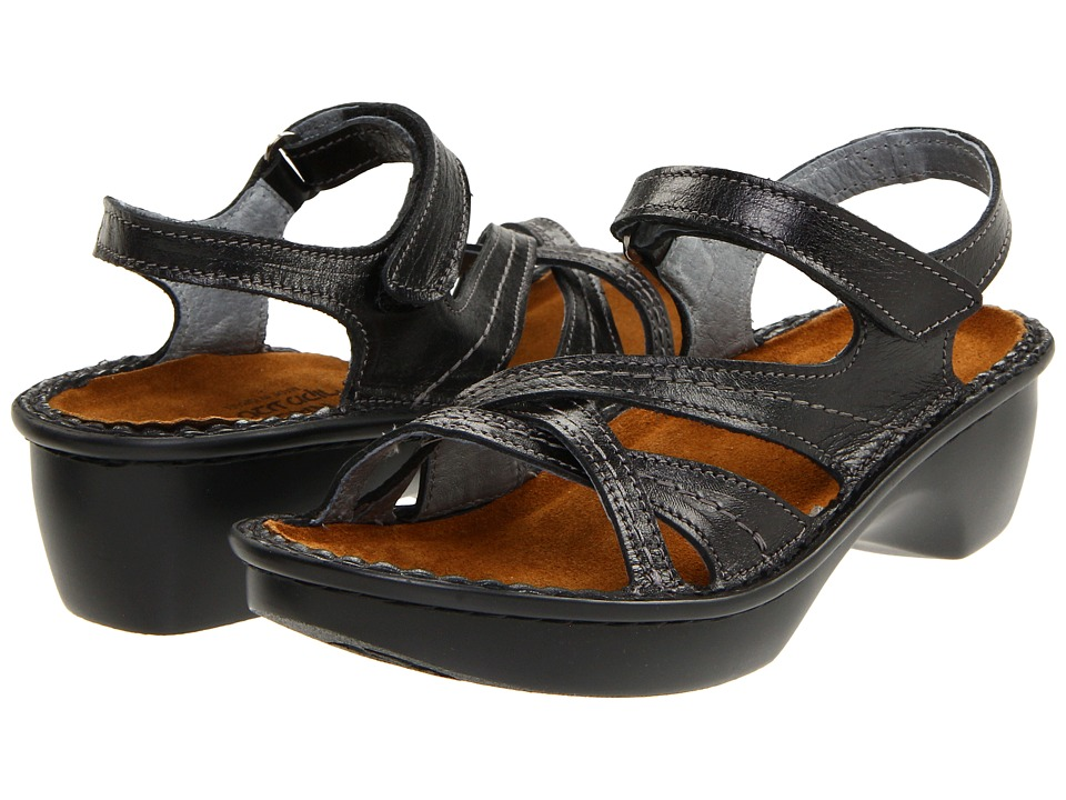 Naot - Paris (Black Madras Leather) Womens Sandals
