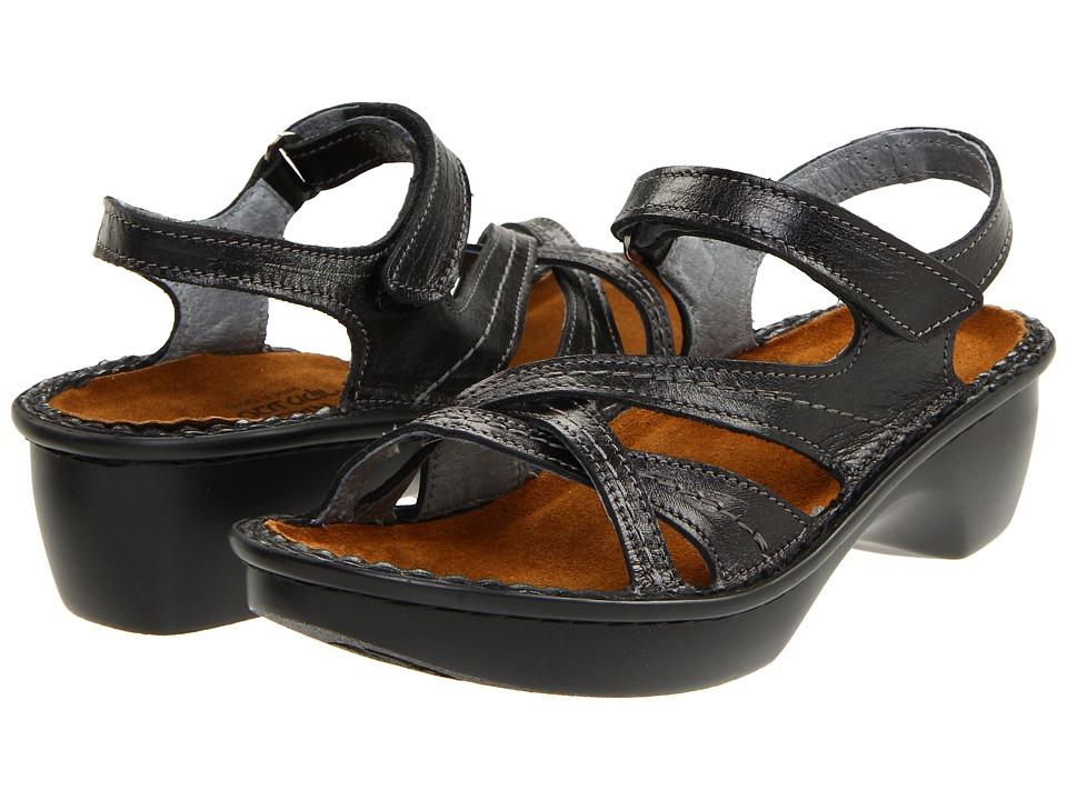 Naot Footwear Paris (Black Madras Leather) Sandals