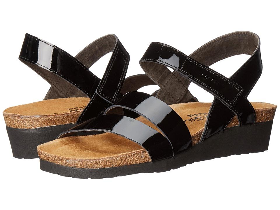 Naot Footwear Kayla (Black Patent) Sandals
