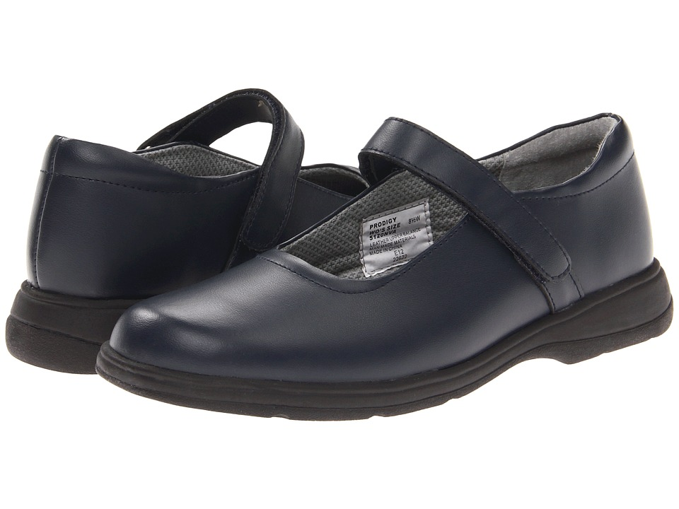 School Issue Prodigy Adult Dark Navy Leather Girls Shoes