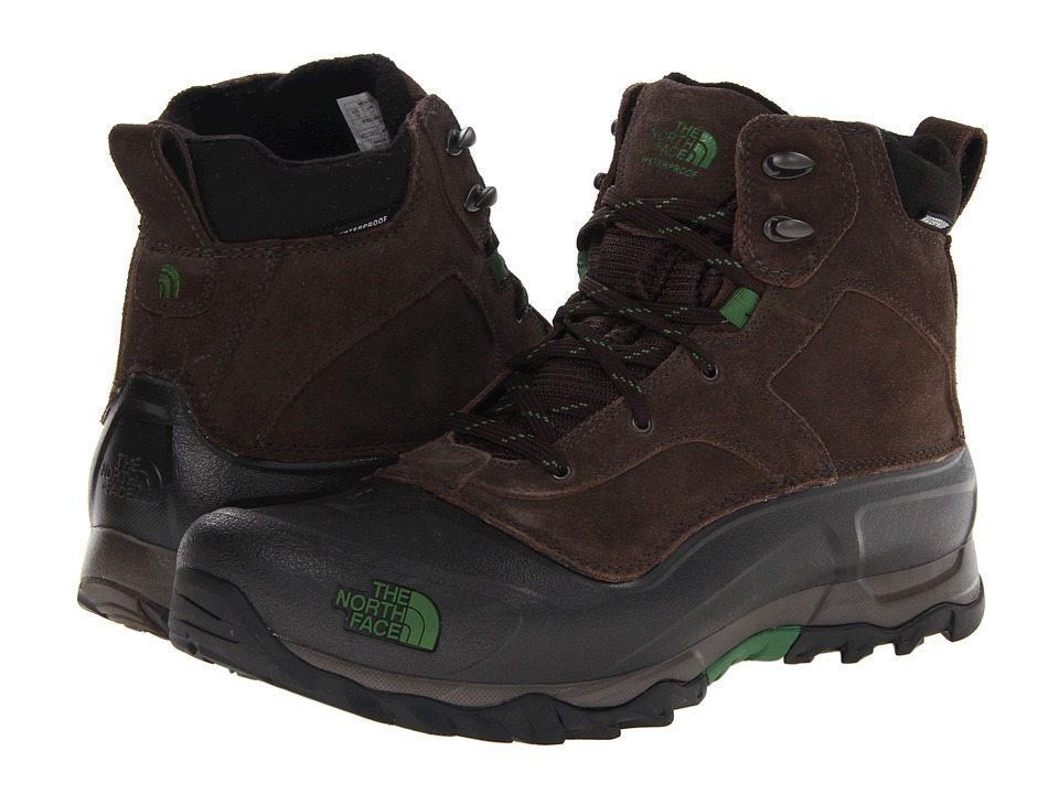 The North Face - Snowfuse (Ganache Brown/Sullivan Green) Mens Cold Weather Boots