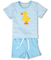 le top - Just Ducky Stripe Shirt and Short Set (Infant)