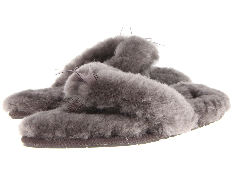 UGG Fluff Flip Flop II (Grey Sheepskin) Women