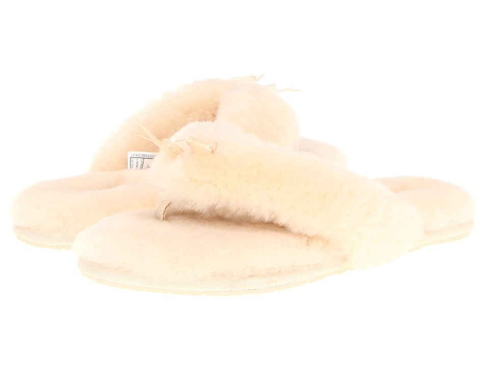 UGG Fluff Flip Flop II (Natural Sheepskin) Women