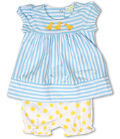 le top - Just Ducky Stripe Dress and Dot Bloomer (Infant)