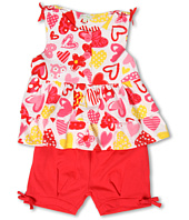 le top - Love Always Top w/ Tiered Ruffles and Banded Shorts (Infant/Toddler/Little Kids)