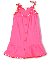 le top - Love Always Beach Dress w/ Heart Buttons and Cherry Ties (Infant/Toddler/Little Kids)