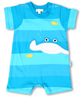 le top - Little Ray & Oscar Stripe Romper (Infant)