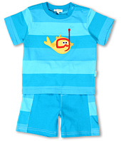 le top - Little Ray & Oscar Stripe Shirt and Shorts (Infant)