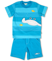 le top - Little Ray & Oscar Stripe Shirt and Short (Infant/Toddler)