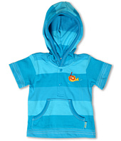 le top - Little Ray & Oscar Hooded Stripe Cover-Up Shirt (Infant/Toddler)