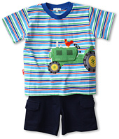 le top - Down on the Farm Stripe Shirt w/ French Terry Cargo Shorts (Infant/Toddler)