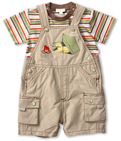 le top - Happy Camper Shortall and Stripe Shirt (Infant)