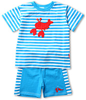le top - Rock Lobster Stripe Shirt and Short Set (Infant/Toddler)