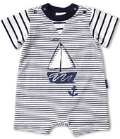 le top - Anchors Aweigh Mini Stripe Romper (Infant)