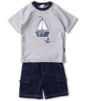le top - Anchors Aweigh Mini Stripe Shirt and Shorts (Infant/Toddler)