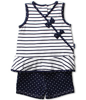 le top - Anchors Aweigh Nautical Stripe Sleeveless Top and Navy Dot Shorts (Toddler/Little Kids)