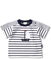 le top - Anchors Aweigh Nautical Stripe Cover-Up Shirt (Infant)