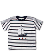 le top - Anchors Aweigh Nautical Stripe Cover-Up Shirt (Infant/Toddler/Little Kids)