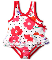 le top - Field of Poppies Skirted Swimsuit w/ Cross Front (Infant)