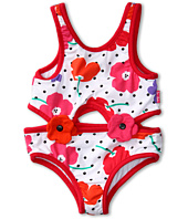 le top - Field of Poppies One Piece Cut-Out Tankini (Toddler/Little Kids)