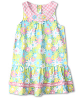 le top - Sunshine & Daisies Drop-Waist Dress w/ Check Collar (Toddler/Little Kids)