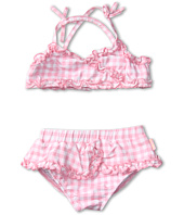 le top - Sunshine & Daisies Gingham Check Skirted Bikini w/ Ruching (Toddler/Little Kids)