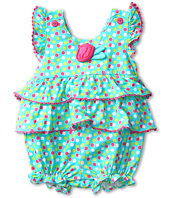 le top - Swirly Girly Dot Sunsuit w/ Tiered Ruffles (Infant)