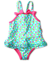 le top - Swirly Girly Dot Skirted Swimsuit w/ Ruching (Infant)