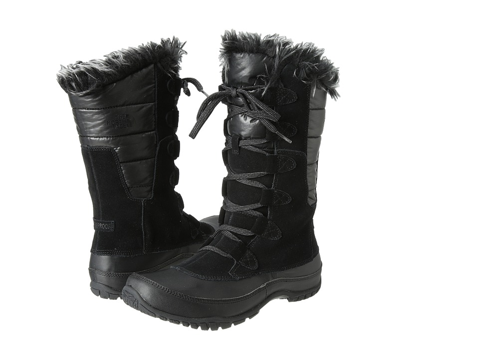 The North Face Nuptse Purna (Shiny TNF Black/TNF Black (Prior Season)) Women's Cold Weather Boots