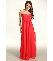 Calvin Klein - Strapless Chiffon Gown With Sparkle Braid Accent