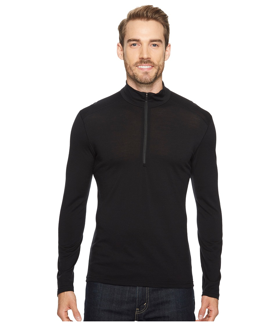 Icebreaker Oasis Mid-Weight Merino Long Sleeve Half Zip (Black) Men