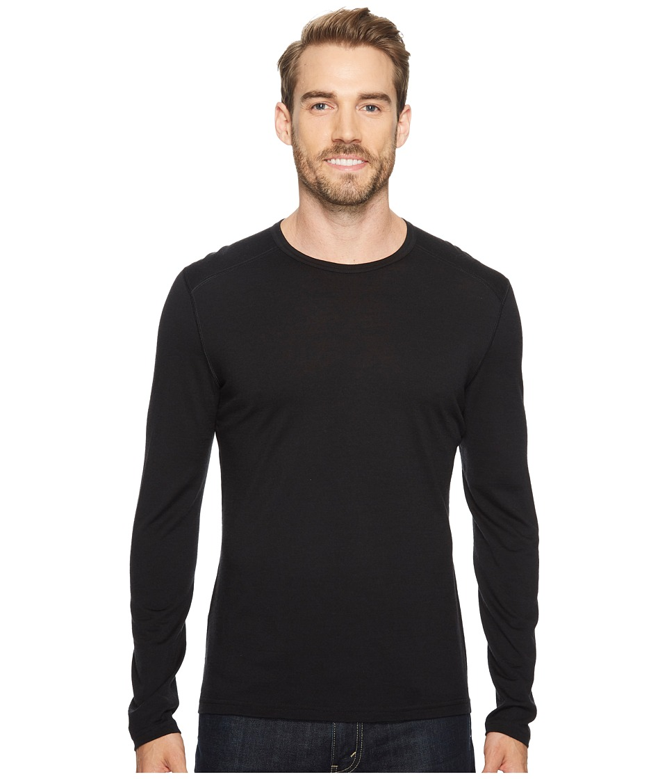 Icebreaker Oasis Mid-Weight Merino Long Sleeve Crewe (Black) Men