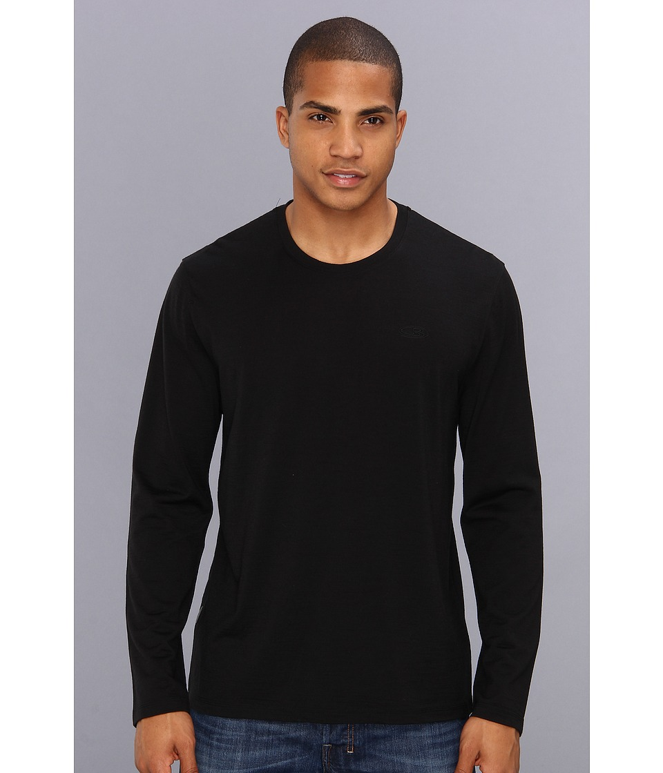 Icebreaker - Tech T Lite Merino Long Sleeve (Black) Mens T Shirt