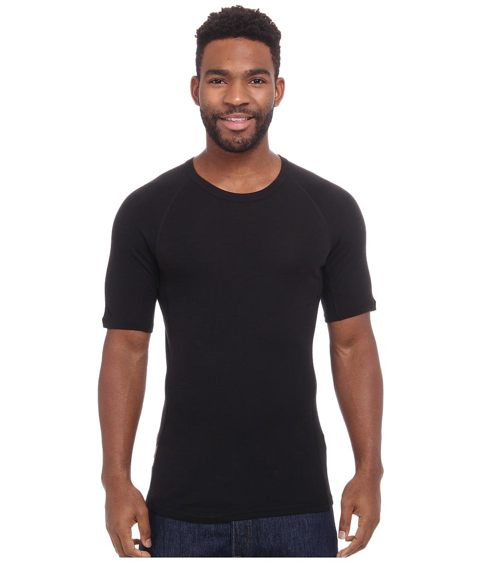 Icebreaker Everyday Short Sleeve Crewe Black Mens Short Sleeve Pullover